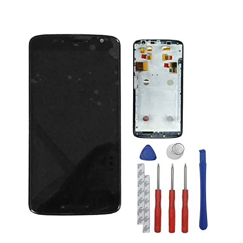 swark LCD Display Screen and Digitizer Touch Screen Assembly with Frame Replacement for Droid Maxx 2