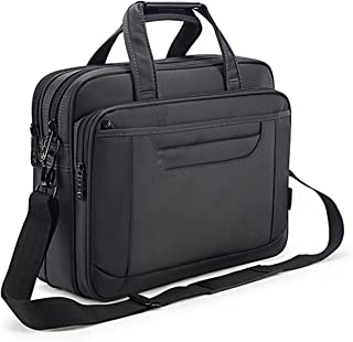 Briefcase Bag 15.6 Inch Laptop Messenger Bag Business Office Bag for Men Women, Waterproof Stylish Nylon Multi-Functional Shoulder Bag fit for Computer Notebook MacBook Hp Dell Lenovo Asus Apple
