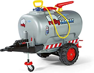 Rolly Toys rollyTanker Fass-Anhänger mit Pumpe und Spritze für Kinder von 3 - 10 Jahre, mit Stützrad, max. Befüllung 30 Liter 122776