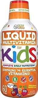 Children's Liquid Multivitamin by Feel Great 365 (60 Day Supply)   Daily Value of 14 Vitamins   Natural Kids Supplement ● Non-GMO, Sugar-Free, Gluten Free, Methyl B-12 Vitamin D3, Great Fruity Taste