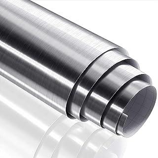 Shelzi 2 M Plan Metallic Kitchen Adhesive Wall Paper Waterproof Silver Wall Sticker for Kitchen Appliances Dishwasher Refr...