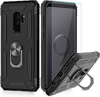 51141abb327 LeYi Funda Samsung Galaxy S9 Plus Armor Carcasa con 360 Anillo iman Soporte  Hard PC y