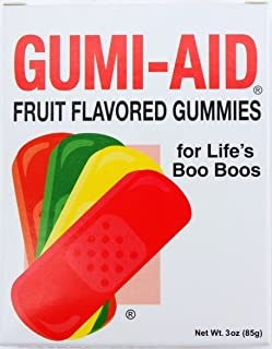 Gumi-Aid Fruit Flavored Gummy Bandages 3 oz Box (Pack of 2)