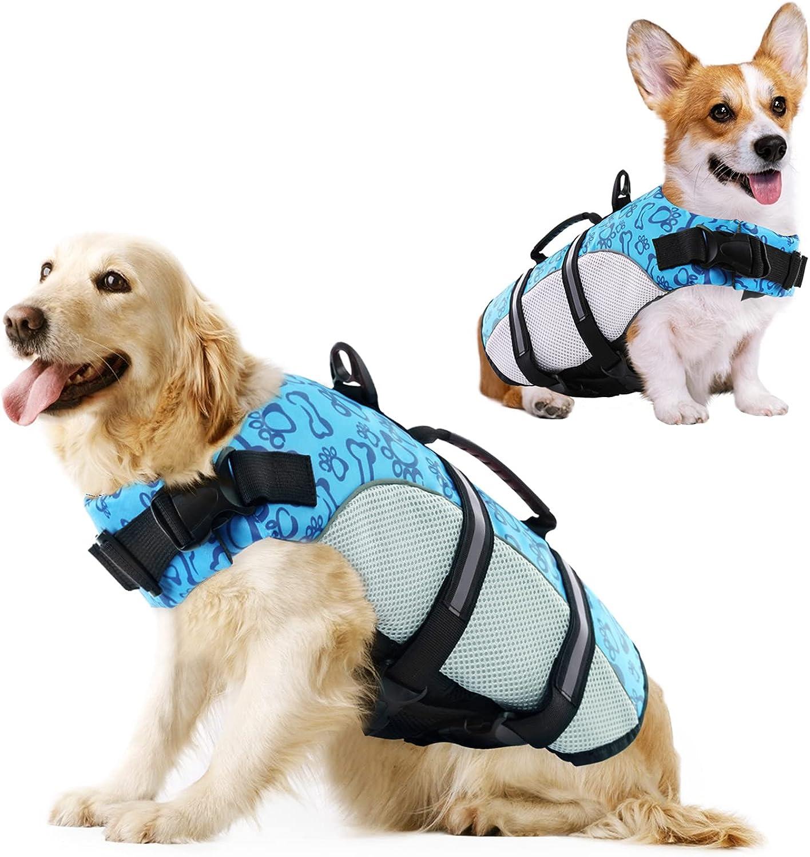 KOESON Dog Life Popular overseas Jacket Safety Pet Ripstop Super popular specialty store Flotati Vest