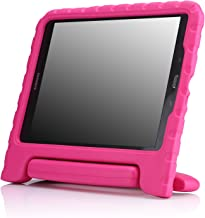 MoKo Samsung Galaxy Tab A 9.7 Case - Kids Shock Proof Convertible Handle Super Protective Stand Cover Case for 2015 Galaxy Tab A Tablet 9.7 inch (SM-T550 / P550), Magenta (with S-Pen Opening)