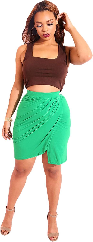 Rebdolls Pleated Mini Skirt  Button Closure  Body Conscious  Work Wear  Classy