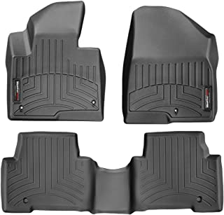 WeatherTech Custom Fit FloorLiner for Hyundai Santa Fe - 1st & 2nd Row (Black)