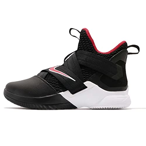 NIKE Mens Lebron Soldier XII EP, Black/University RED-White, ...
