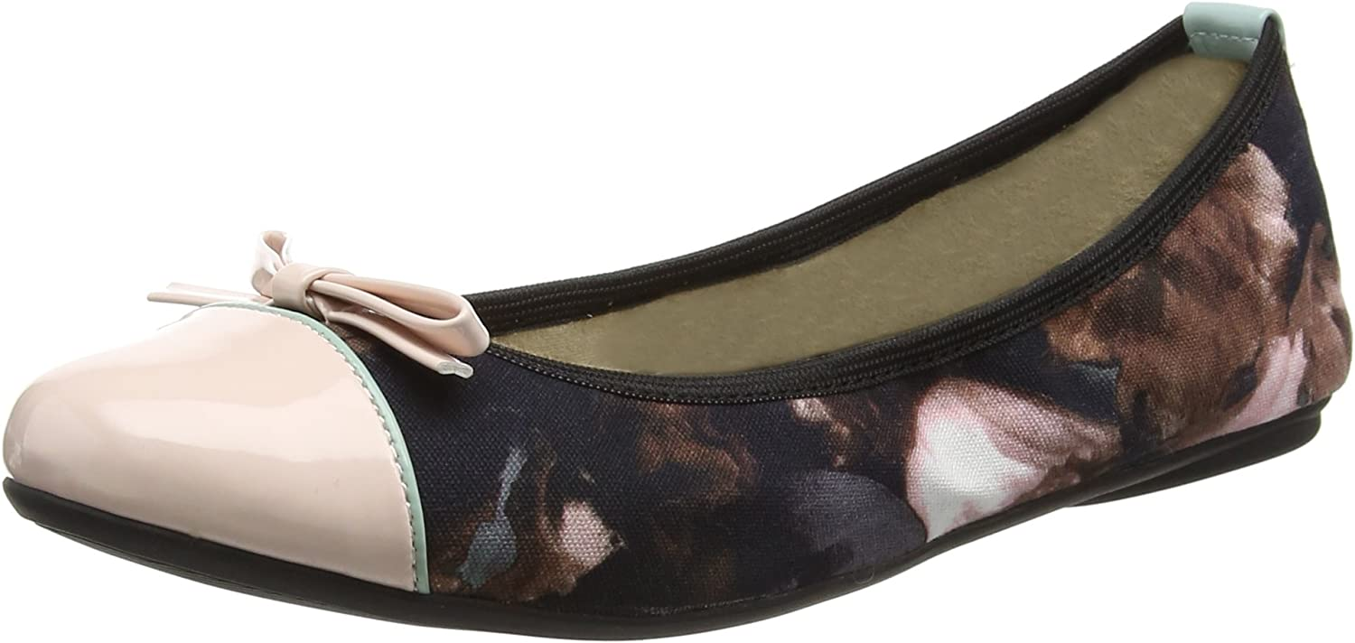Butterfly Twists Cara - Floral Watercolour Mint Pink (Textile) Womens shoes