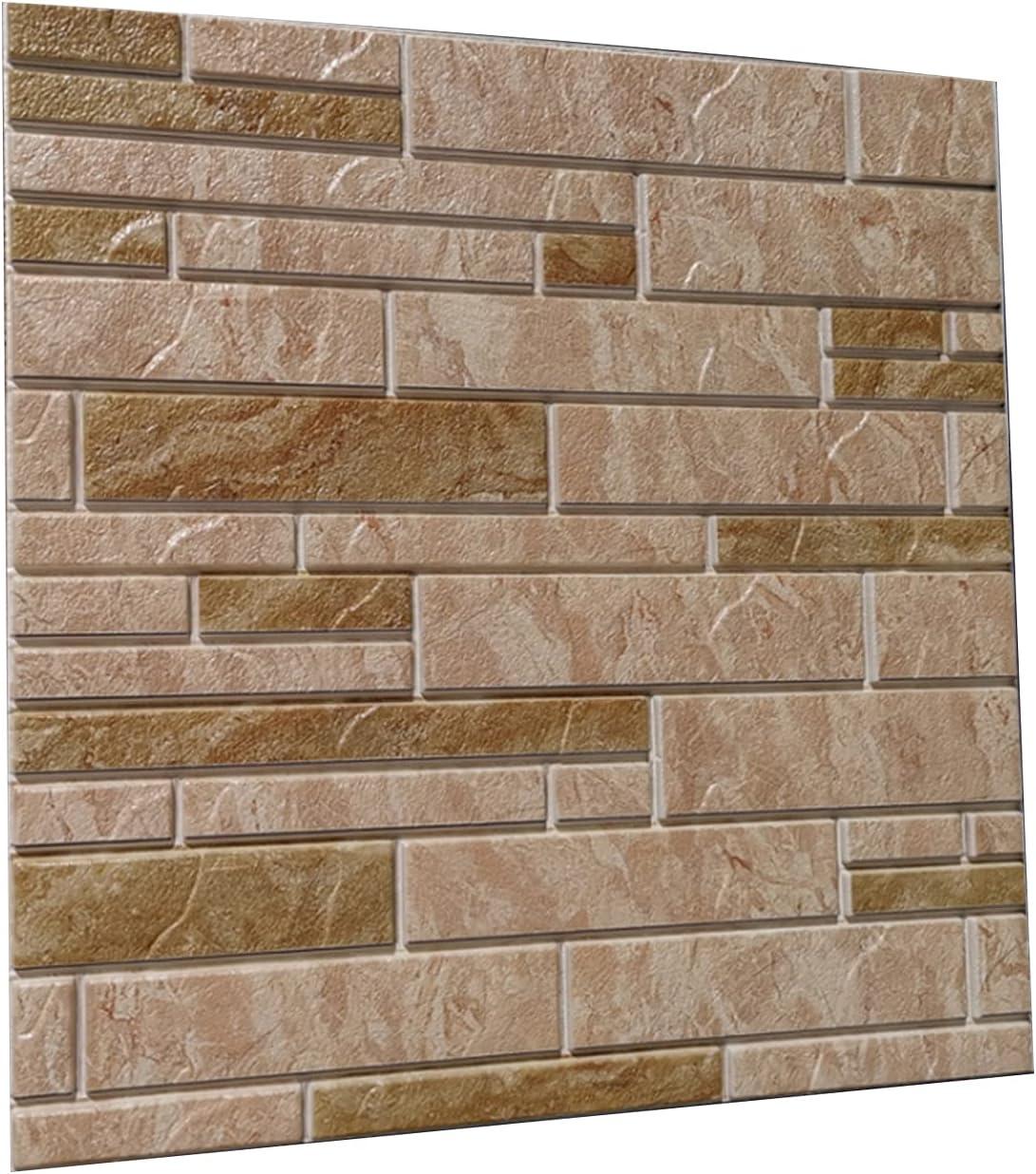 GLUDGOAT 3D Max 83% OFF Max 56% OFF Wall Panels Self Adhesive Textured Wallpaper Brick