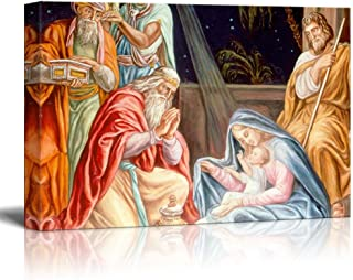 wall26 - Adoration of The Wise Men (Baby Jesus) - Canvas Print Wall Art Famous Oil Painting Reproduction - 16