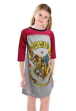 AME Sleepwear Girls' Harry Potter Hogwarts Crest Nightgown