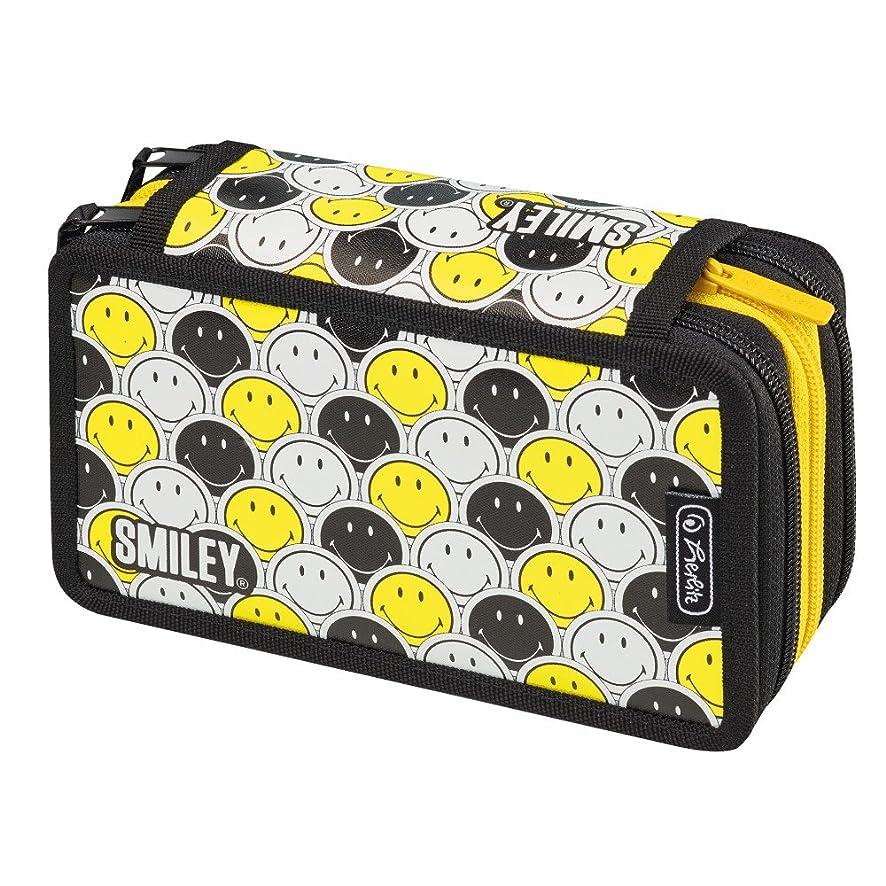 Herlitz Pencil Case, Smiley Black & Yellow Stripes (Multicolour) - 50015429