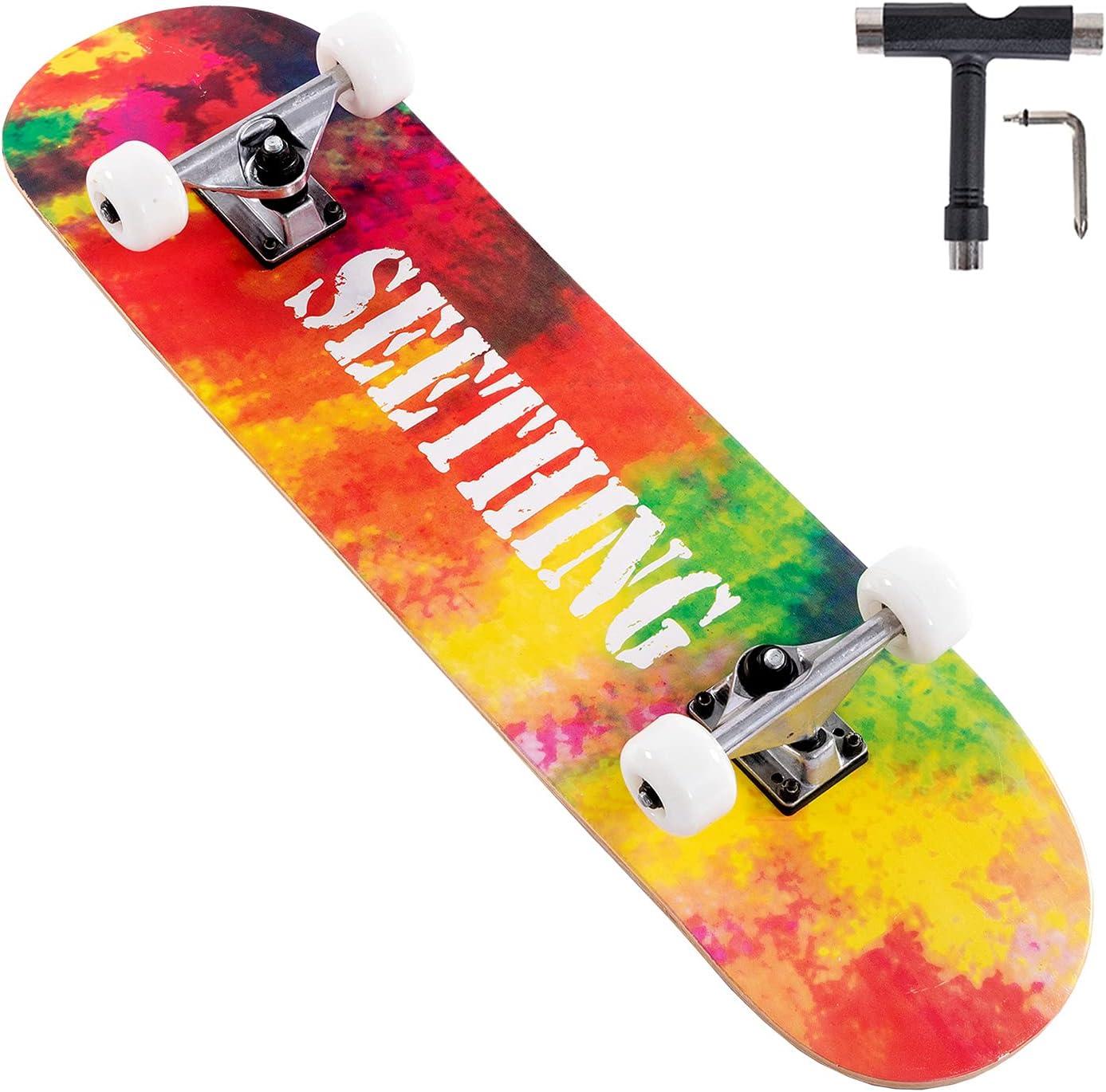 Lamberia 31 Max 68% OFF Inch Popular overseas Skateboards Complete Skateboard for Boys Girls