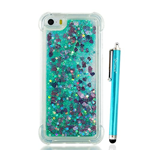 timeless design ece7d 26894 Liquid Glitter iPhone 5 Case with Bumper: Amazon.com