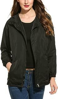 Zeagoo Women's Waterproof Lightweight Raincoat Hooded Outdoor Sport Rain Jacket