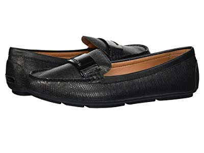 Calvin Klein Lisette Loafer (Black Shiny Lizard) Women