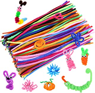 Caydo 200 Pcs Random Colors Pipe Cleaners Chenille Stem 6 mm x 12 Inch for DIY Art Creative Crafts Decorations