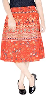 Vingate Style Cotton Knee Length Elastic Band with Dori Skirt (Exact Length 24 INCH D7)
