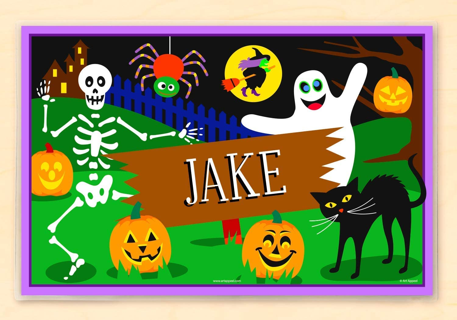 Olive Kids Personalized Max 72% OFF Halloween Ghostly Safety and trust Placemat