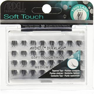 Ardell Soft Touch Trio Medium Individuals Lashes, Black, Medium