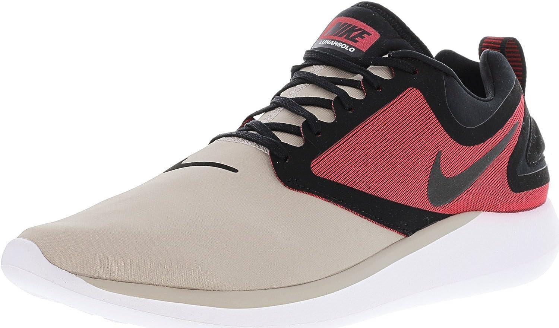 NIKE Mans Lunasolo Cobblestone vit -Tough -Tough -Tough röd Ankle High Running skor- 11.5M  varm begränsad upplaga
