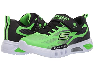 SKECHERS KIDS Sport Lighted Flex-Glow 400016L (Little Kid/Big Kid) (Lime/Black) Boy