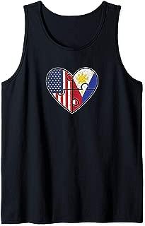 Philippines USA Flag Filipino American Couples Tank Top