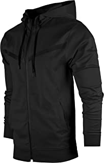 Sports Mens Premium TechFleece Fashion Hoodie - Athletic Jogger Fitness Workout Gym Jacket