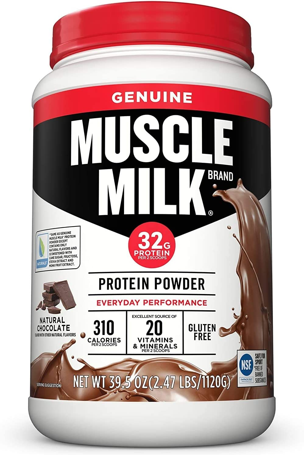 Muscle Milk Genuine Protein Powder 32g Max 83% OFF Chocolate Prote Some reservation Natural