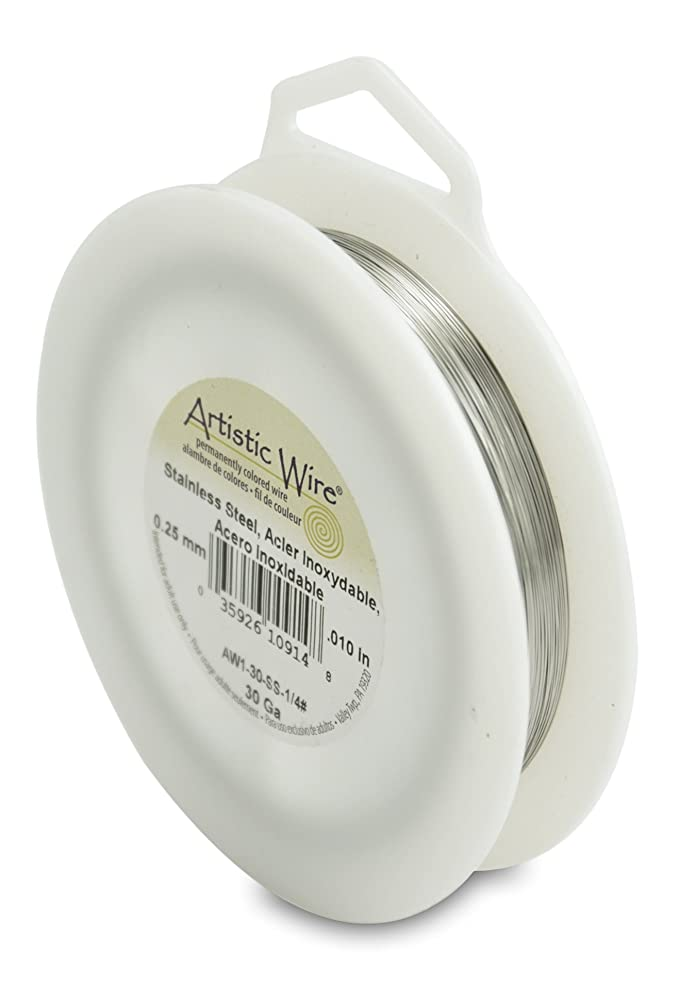 Artistic Wire Beadalon 30 Gauge, Stainless Steel, 1/4-Pound