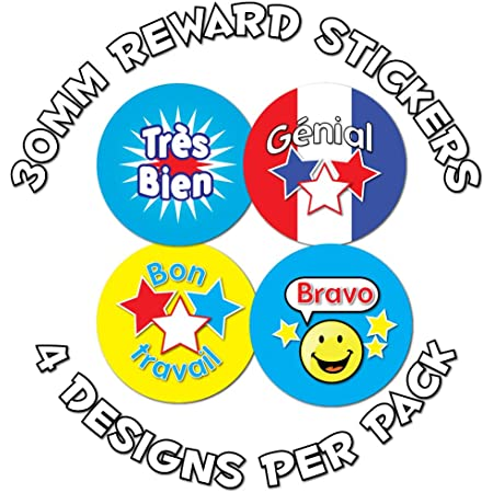 15mm French language reward stickers 440 stickers
