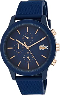 Lacoste.12.12 Men's Blue Dial Silicone Band Watch - 2011013