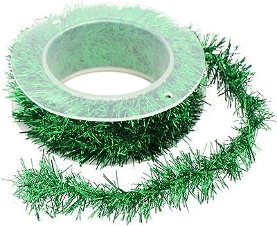 al aire libre interior guirnalda de decoraci/ón Auihiay 33 m hogar para decoraci/ón de Navidad Guirnalda de Navidad vacaciones color verde con 10 grandes lazos rojos y 30 conos de pino