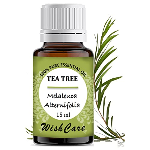 WishCare® Tea Tree Essential Oil 15 ML - 100% Pure, Undiluted & Natural - For Skin, Hair and Acne Care