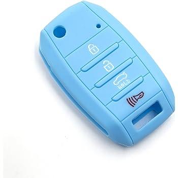 Brown LIGHTKOREA 6 Button Silicone fob Remote Smart Key Case Protector Cover 1Pcs Compatible with Kia Sedona Carnival 2015 2019