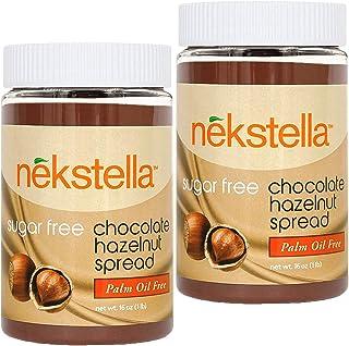 Nekstella - Classic Sugar Free Low Carb Natural Chocolate Hazelnut Spread - Palm Oil Free (2 pack) 16 oz jar