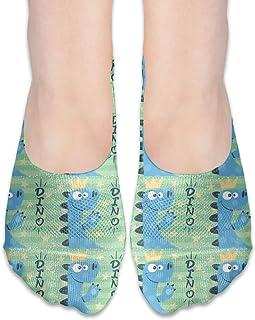 Rhodar Women's Casual Thin Section Cute Dino Characters Princess No Socks Anti-Skid