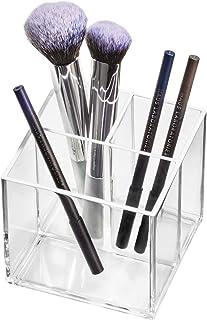 iDesign 95309EU Makeup Organizer, Pot 3 Compartiments Collection Exclusive Sarah Tanno, Rangement Maquillage en Plastique ...