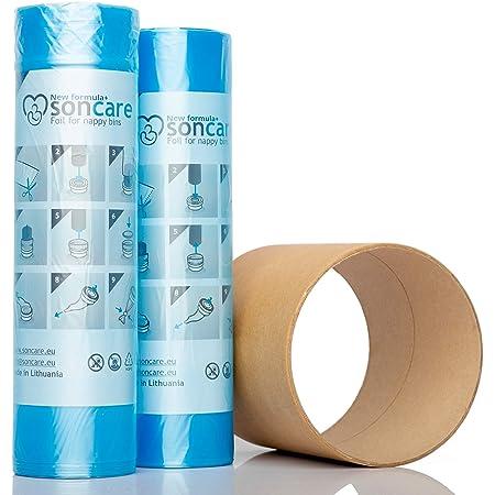inclus le tube en carton pour faciliter la recharge LILNAP Recharges de poubelle à couches et anti-odeurs compatible avec Sangenic VE600 Angelcare et Litière Litter Locker II 200m