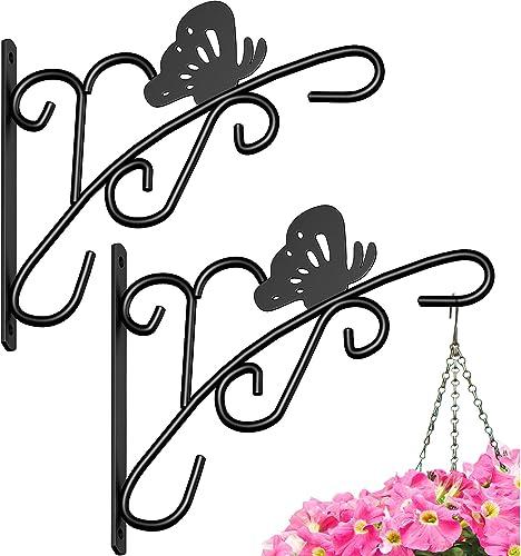 Amagabeli 2 Pack Hanging Plants Bracket 11'' Wall Planter Hooks Hangers Flower Pot Bird Feeder Wind Chimes Lanterns P...