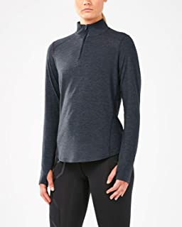 2XU Heat Half Zip Womens Long Sleeve Running Top - Grey