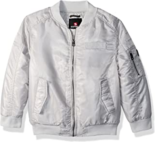 Southpole Boys' Kids Ma-1 Bomber Flight Jacket with Biker Detail