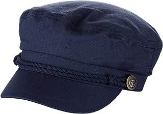 NYFASHION101 Unisex 100% Cotton Greek Fisherman Sailor Fiddler Driver Cap Hat