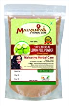 100% Natural Lemon Peel (CITRUS LIMON) Powder for PERFECT OIL BALANCE NATURALLY by Malvaniya Herbal Care (100g)