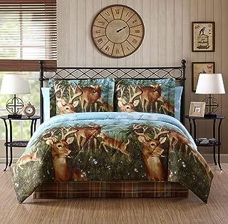 Ellison First Asia 20671803BB-MUL Deer Creek Bed in a Bag Comforter Set44; Brown - Queen Size44; 8 Piece