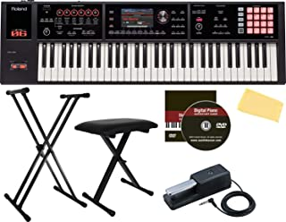 Roland FA-06 61-Note Music Workstation Bundle with Roland DP