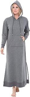 Alexander Del Rossa Women's Warm Fleece Nightgown, Long Kaftan with Pockets