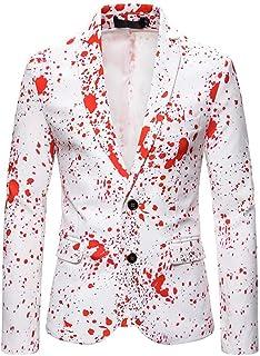 Men's White Two Buttons Peak Lapel Suit Jacket Slim Fit Prom Party Coat Performance Blazer Spring Winter Wear