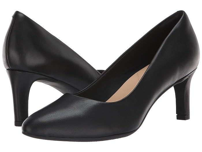 Clarks  Calla Rose (Black Leather 2) High Heels